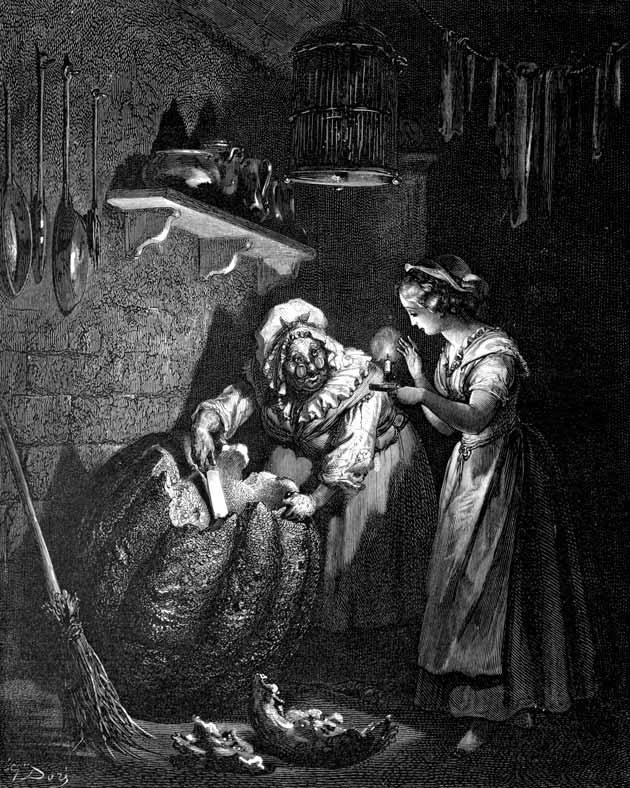 Cinderella, illustration by Gustave Doré