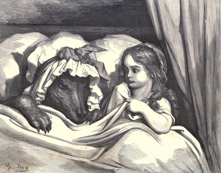 Illustration for Little Red Riding-Hood by Gustave Doré