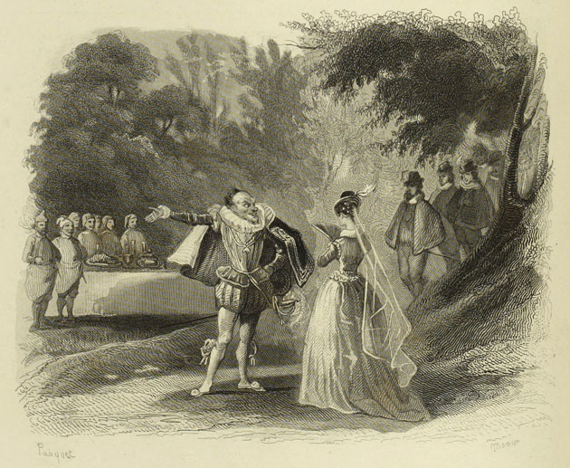 Riquet with the Tuft presents himself to the Princess, gallant and most magnificently dressed, like a prince who is going to be married.