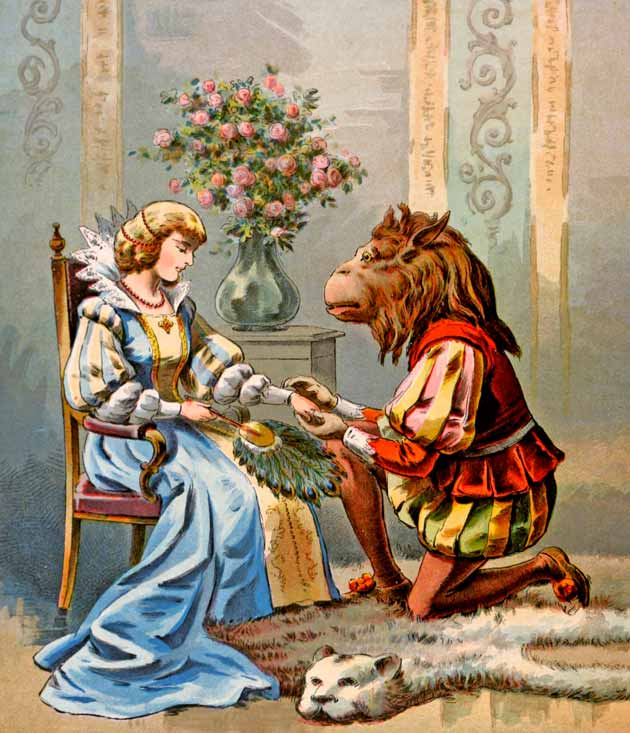 Illustration for Beauty and the Beast, unknown artist