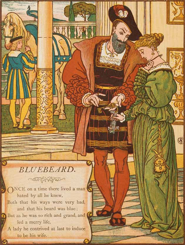 Illustration for Bluebeard by Walter Crane