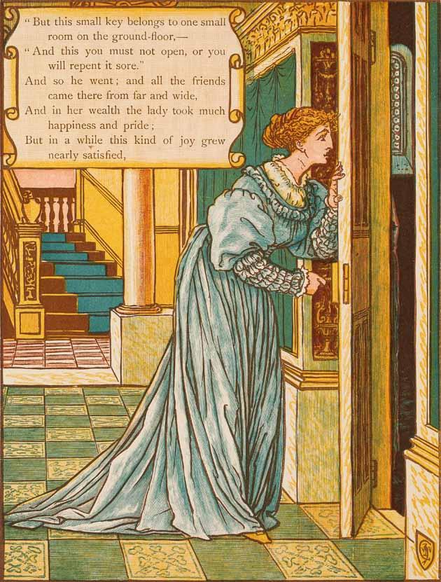 Illustration for Bluebeard by Walter Crane