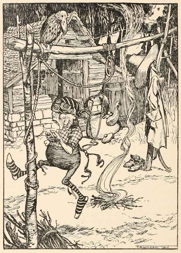 Illustration for Rumpelstiltskin by Arthur Rackham