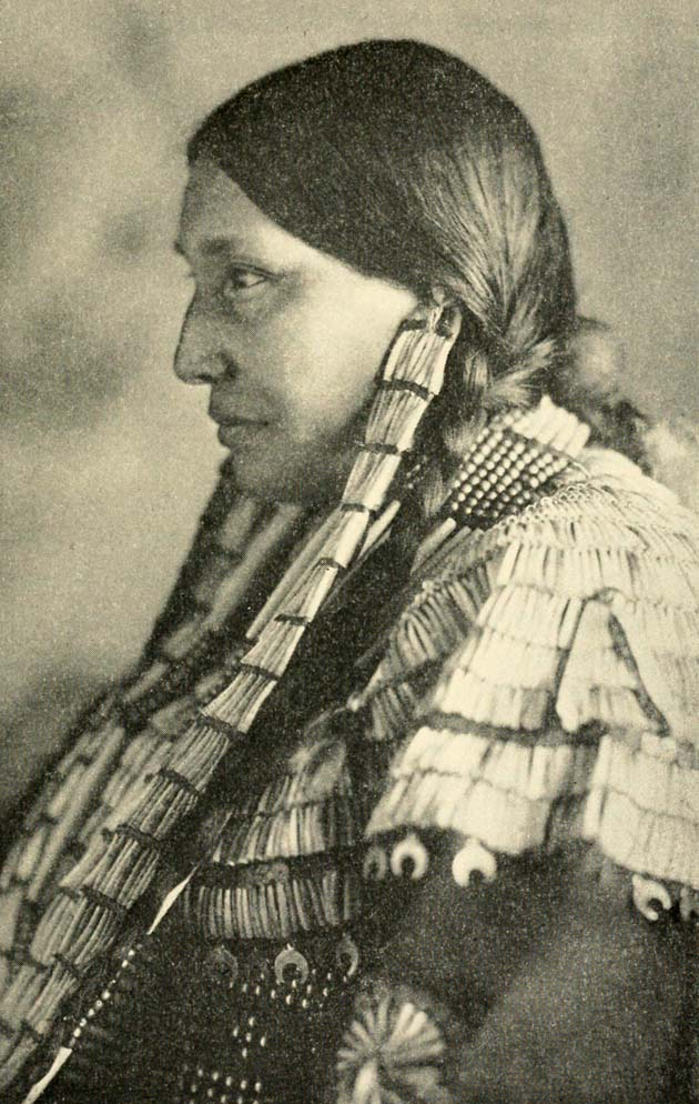 Portrait of a Sioux woman