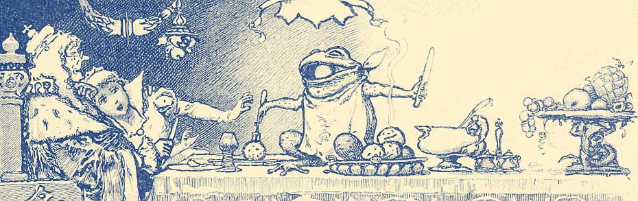 Illustration for The Frog Prince by Hermann Vogel