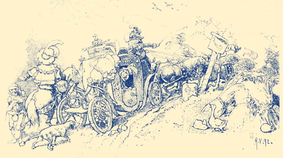Illustration for The Frog Prince by Hermann Vogel