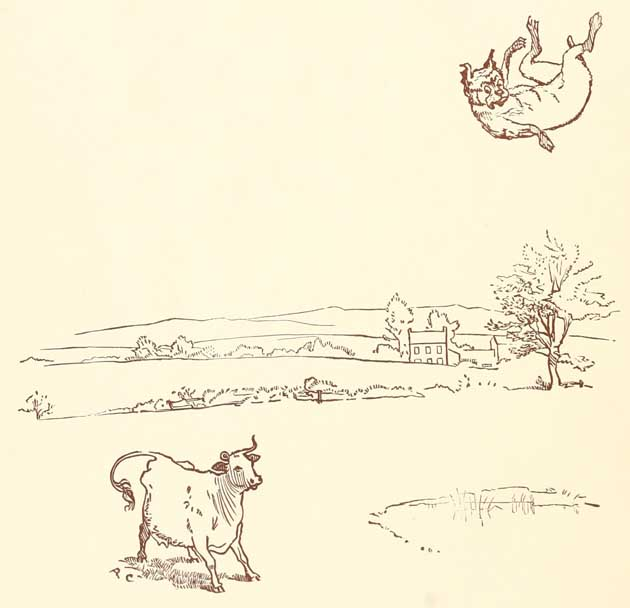 The Cow tossing the Dog