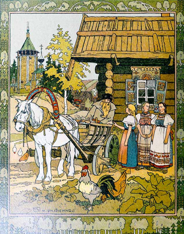 The Feather of Bright Finist the Falcon, illustration by Ivan Bilibin