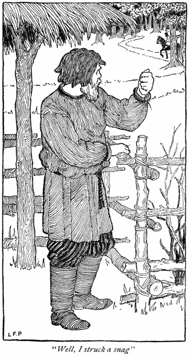 Dimian the Peasant, illustration by Lucy Fitch Perkins