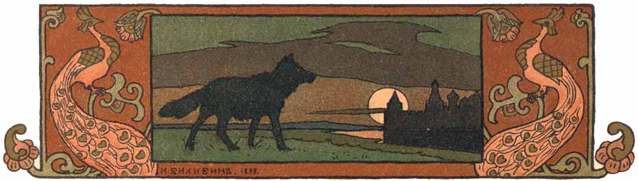 van Tsarevich, the Fire‑Bird, and the Gray Wolf, illustration by Ivan Bilibin
