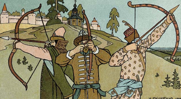 The Princess Frog, illustration by Ivan Bilibin