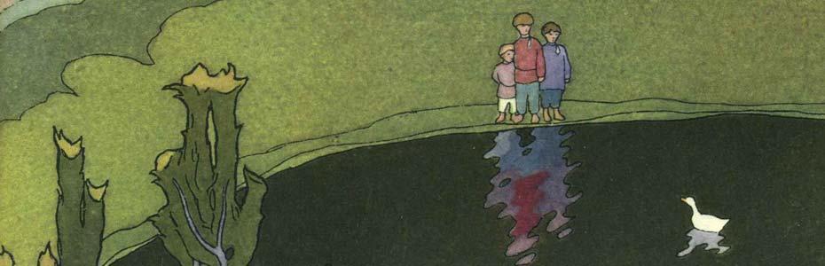 Illustration for The White Duckling, by Ivan Bilibin