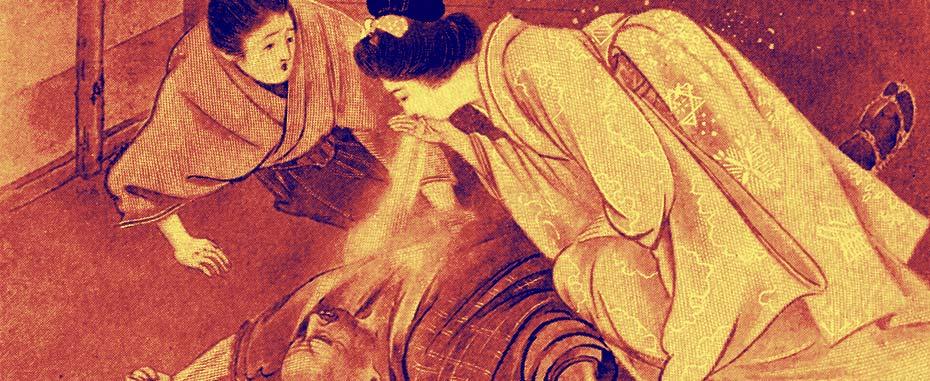 Illustration for the japanese folk tale Yuki-Onna by Keishu Takenouchi