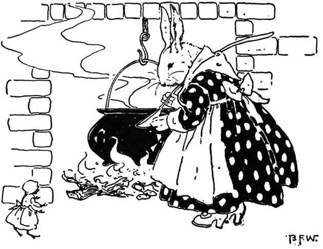 Illustration for Little White Rabbit by Blanche Fisher Wright