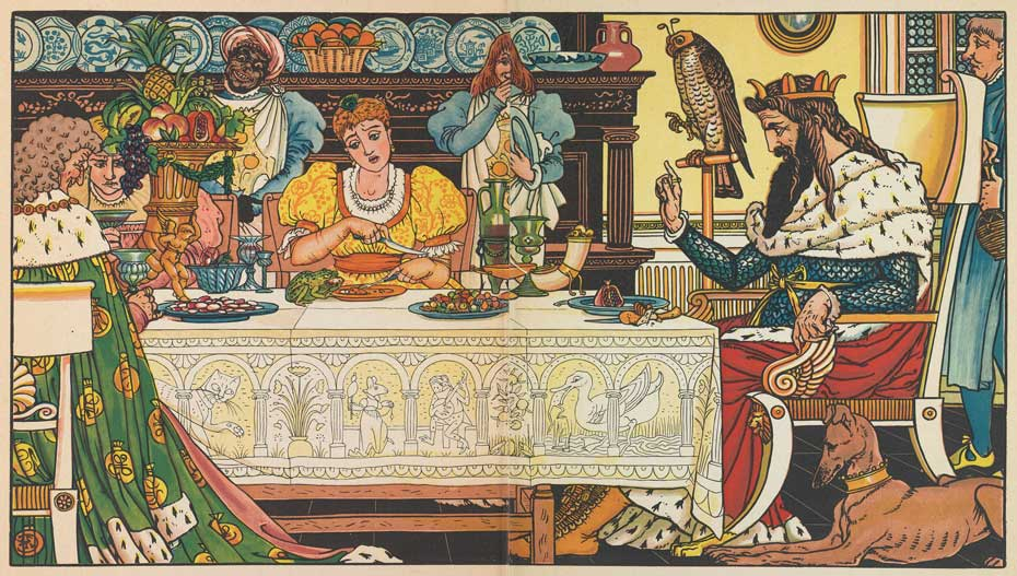 Illustration for The Frog Prince by Walter Crane
