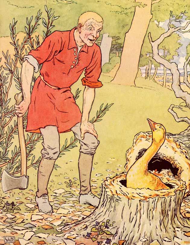 Illustration for The Golden Goose by L. Leslie Brooke