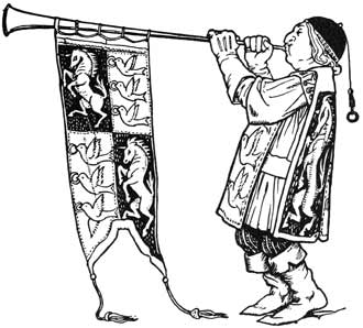 Illustration for The Cinder-Maid by John D. Batten