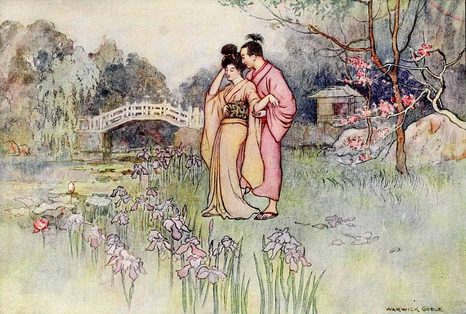 Illustration for Green Willow by Warwick Goble