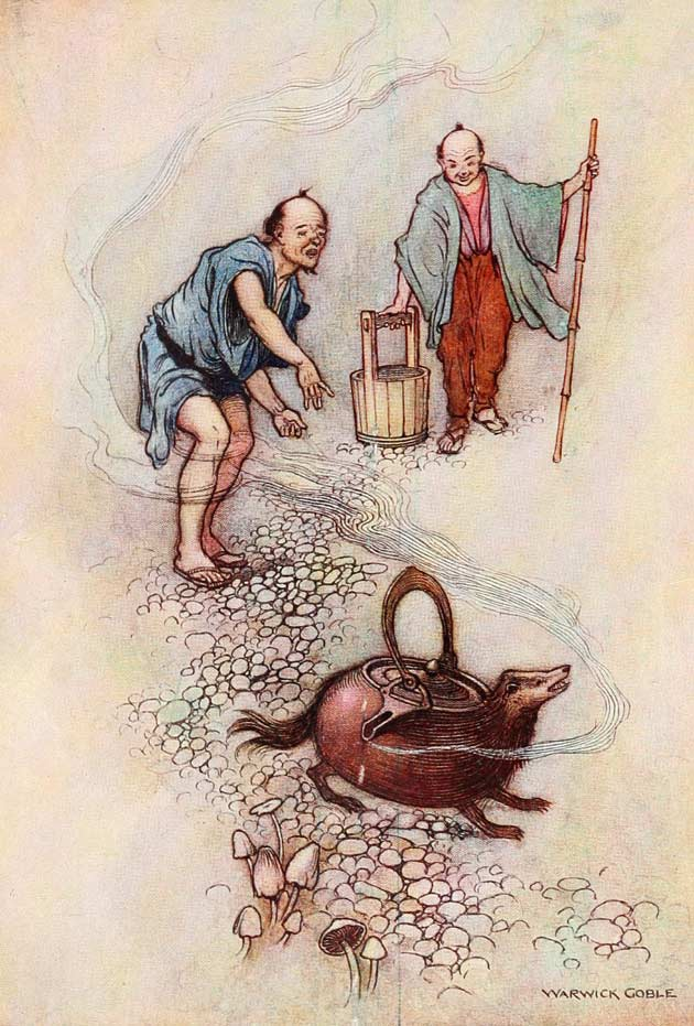Illustration for The Tea-Kettle by Warwick Goble