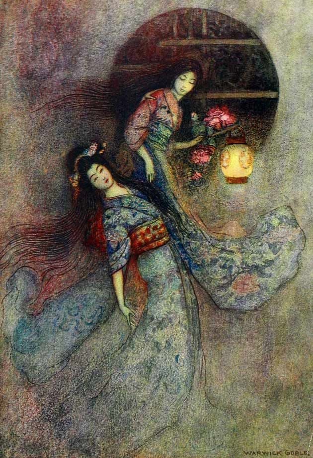 Illustration for The Peony Lantern by Warwick Goble