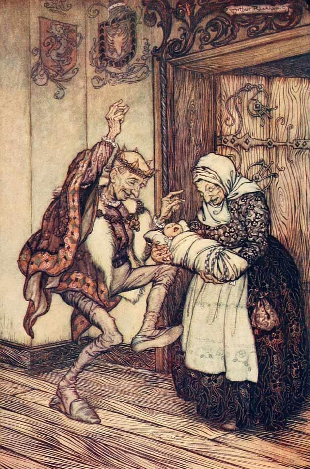 Illustration for Briar Rose by Arthur Rackham