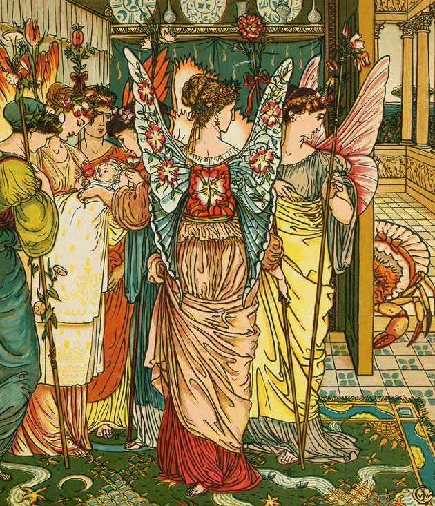 Illustration for The Hind in the Wood by Walter Crane