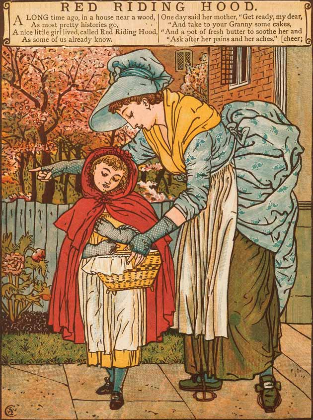 Illustration for Little Red Riding Hood by Walter Crane