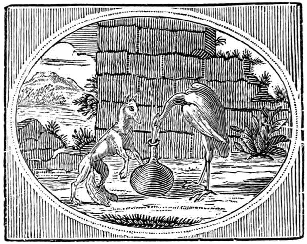 Illustration for The Simple Stork by Mary Boyle
