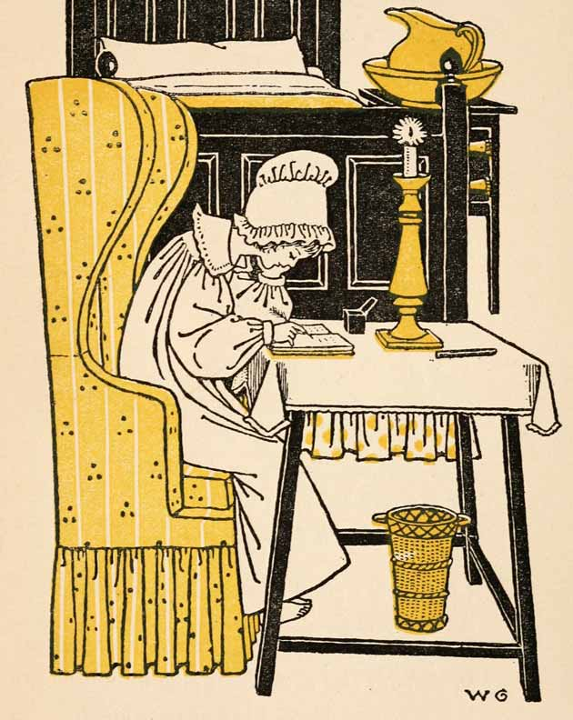 Illustration for Written in the First Leaf of a Child's Memorandum Book by Winifred Green