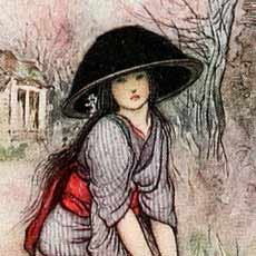 Illustration for The Black Bowl by Warwick Goble