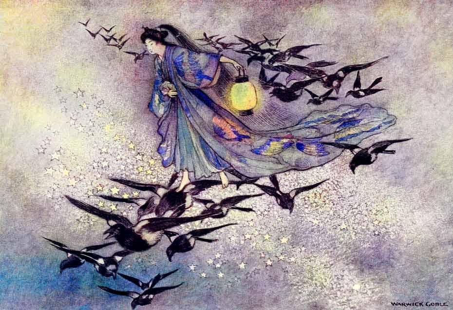 Illustration for The Star Lovers by Warwick Goble
