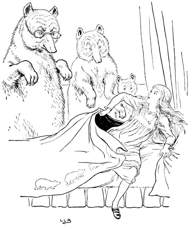 Illustration for The Story of the Three Bears by L. Leslie Brooke
