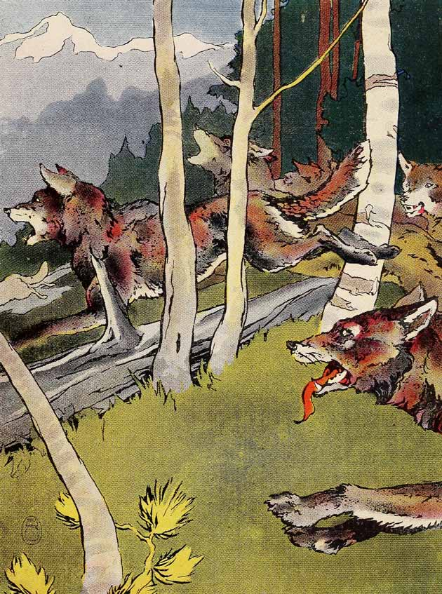 Illustration for The First Travels of Paupukewis by Warner Carr