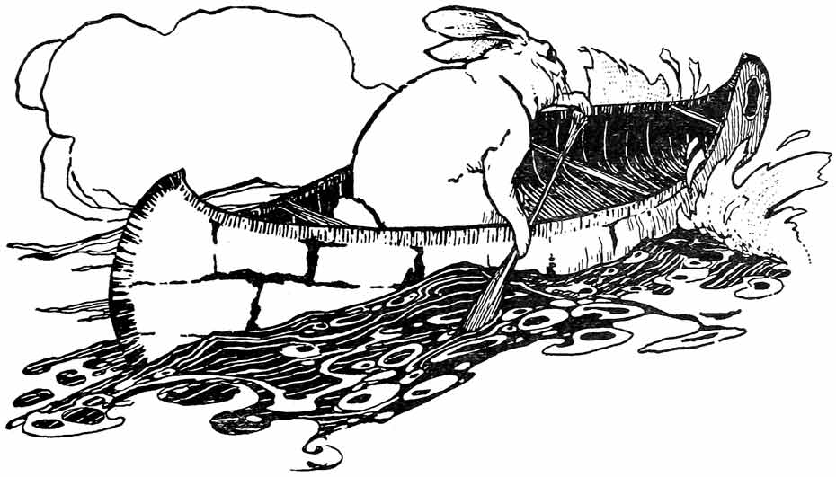 Illustration for How Manabozho Went Fishing by Warner Carr